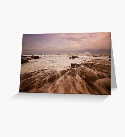 Bar Beach Rock Platform 4 Greeting Card