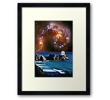 Meanwhile in a Parallel Universe. Framed Print