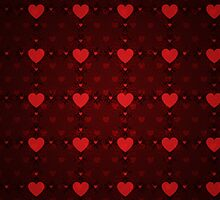 Grunge red pattern with hearts 8 by AnnArtshock