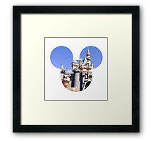 Disneyland Castle Mickey Framed Print