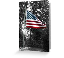 Colored Flag Greeting Card