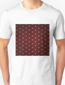 Grunge red pattern with hearts 9 Unisex T-Shirt