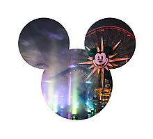 World of Color Mickey Photographic Print
