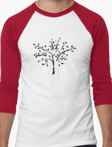 Tribal tree on blue T-Shirt