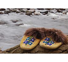walk a mile in our moccasins Photographic Print