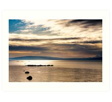 Golden Light On The Waters Of Galway Bay Art Print
