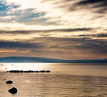 Golden Light On The Waters Of Galway Bay by Mark Tisdale