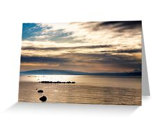Golden Light On The Waters Of Galway Bay Greeting Card