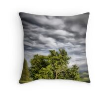 Some trees, some clouds Throw Pillow