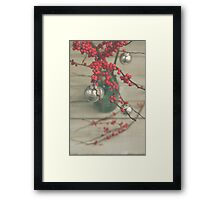 Winter Holly Berries Framed Print