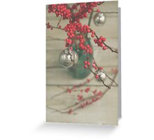 Winter Holly Berries Greeting Card