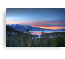 Lake Dillon East Sunset Canvas Print