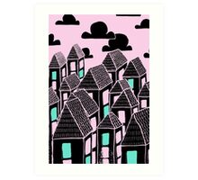 Pink city print Art Print