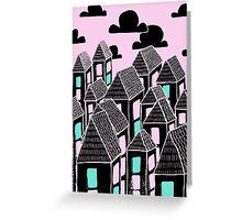 Pink city print Greeting Card