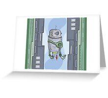 Robot Entering Greeting Card