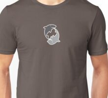 Shark and Dolphin Play Unisex T-Shirt