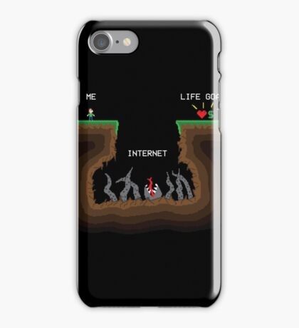 Internet VS Life goals iPhone Case/Skin