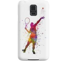 tennis player at service serving silhouette 01 Samsung Galaxy Case/Skin
