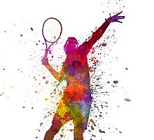 tennis player at service serving silhouette 01 by paulrommer