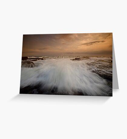 Bar Beach Rock Platform 3 Greeting Card
