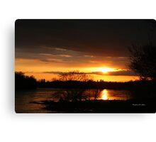 Flooding Sunset --- Beauty & Terror Canvas Print