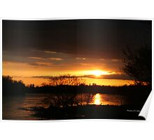Flooding Sunset --- Beauty & Terror Poster
