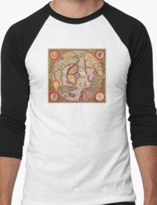 North Pole Map 1595 Men's Baseball ¾ T-Shirt