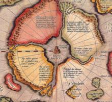 North Pole Map 1595 Sticker