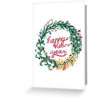 a Christmas wreath Greeting Card