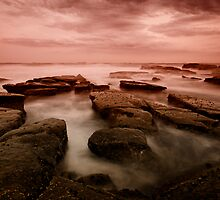 Bar Beach Rock Platform 6 by Mark Snelson