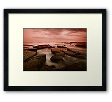 Bar Beach Rock Platform 6 Framed Print