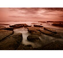 Bar Beach Rock Platform 6 Photographic Print