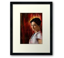 The Woman Framed Print