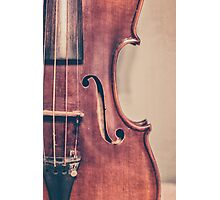 Vintage Violin Portrait Photographic Print