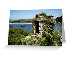 The old watch tower Greeting Card