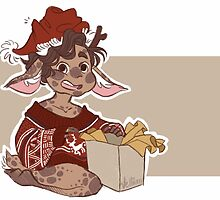 Christmas Sweater Fawnlock by vellium