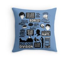 I'd Be Lost Without My Blogger Throw Pillow