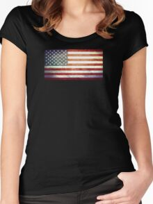 United States of America - Vintage Women's Fitted Scoop T-Shirt