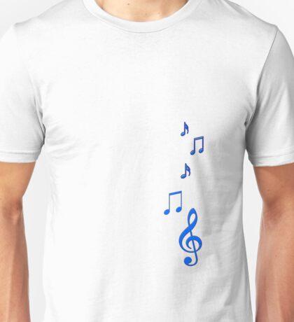 Blue Musical Notes Unisex T-Shirt