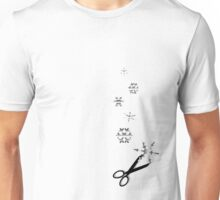 Cutting Snowflakes Unisex T-Shirt