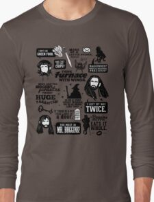 Hobbit Quotes Long Sleeve T-Shirt
