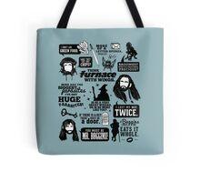 Hobbit Quotes Tote Bag