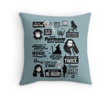 Hobbit Quotes Throw Pillow