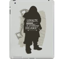 Loyalty. Honor. A Willing Heart. iPad Case/Skin