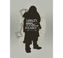 Loyalty. Honor. A Willing Heart. Photographic Print