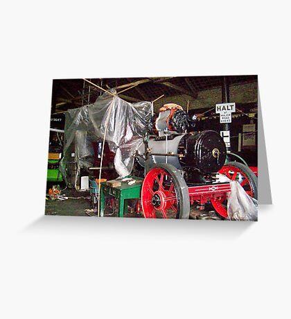 steam engine Greeting Card