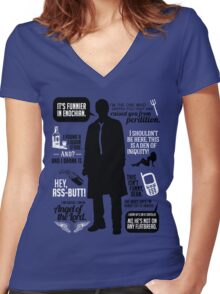 Castiel Quotes Women's Fitted V-Neck T-Shirt