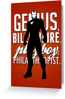Genius, Billionaire, Playboy, Philanthropist.  by Avia Asner