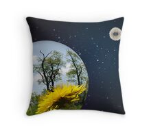 Dandelion Planets Throw Pillow