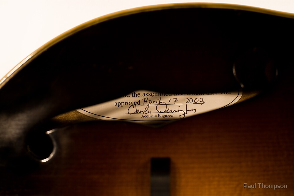 The Loar According to Derrington - Charlie Derrington, Acoustic Engineer by Paul Thompson